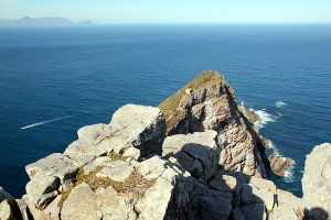 Steep cliffs at Cape Point.