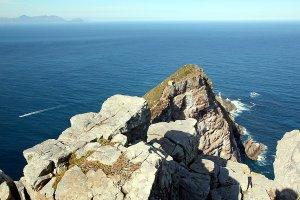 Steep cliffs at Cape Point.