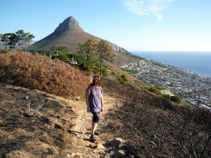 One of the paths leading up the Signal Hill.