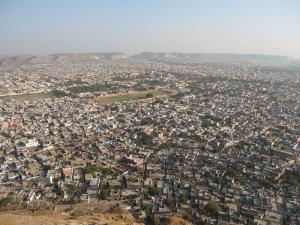 View over Jaipur from the Nahargarh fort.