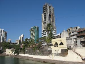 A view of the Walkeshwar temple area in Mumbai.