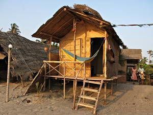 My beach hut in Arambol, Goa, India.