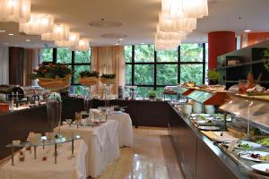 Breakfast buffet at the Crowne Plaza hotel, Bratislava