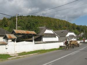 Traditional houses in the village of Pipirig