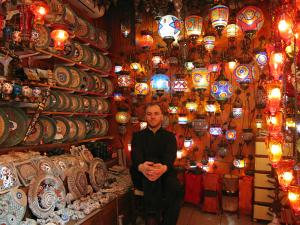 A shop in the Grand Bazaar in Istanbul.