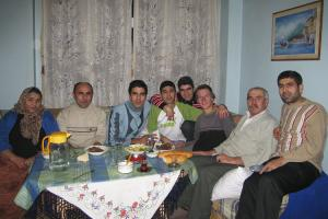 Having dinner during the Kurbam Bayramı celebration in a Turkish family.