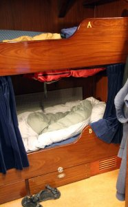 Our beds on the Bark Europa.