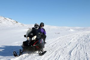 On the snowmobile towards Sisimiut.
