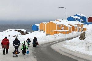 Colourful houses at Sisimiut.