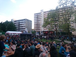 A small festival in the nearby Studentenstadt (student city).