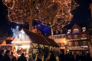 The Christmas market in Colmar.
