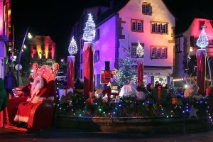 A fountain converted into a Christmas installation, Saverne.