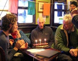 Celebrating Mark's birthday.