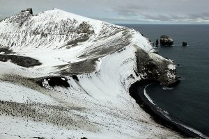 Thousands of penguins at Baily Head, Deception Island.