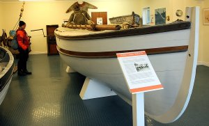 Replica of the James Caird, Shackleton's vessel on his famous journey from Antarctica to South Georgia.