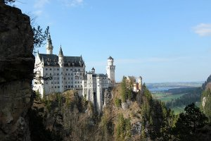 Neuschwanstein castle on a nice April afternoon.