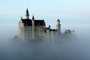 Neuschwanstein, the fairy tale castle above the clouds.
