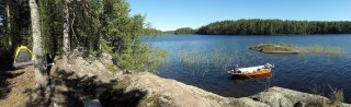 A perfect camping spot on an uninhabitet island on Saimaa lake.