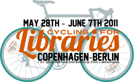 Cycling for Libraries logo.