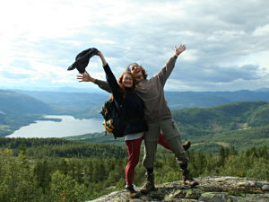 Me and Sandra on the slopes of Mt. Roan, Telemark, Norway.