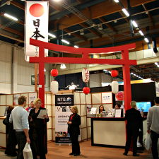 Japanese style torii at the Laatumatkat stand.
