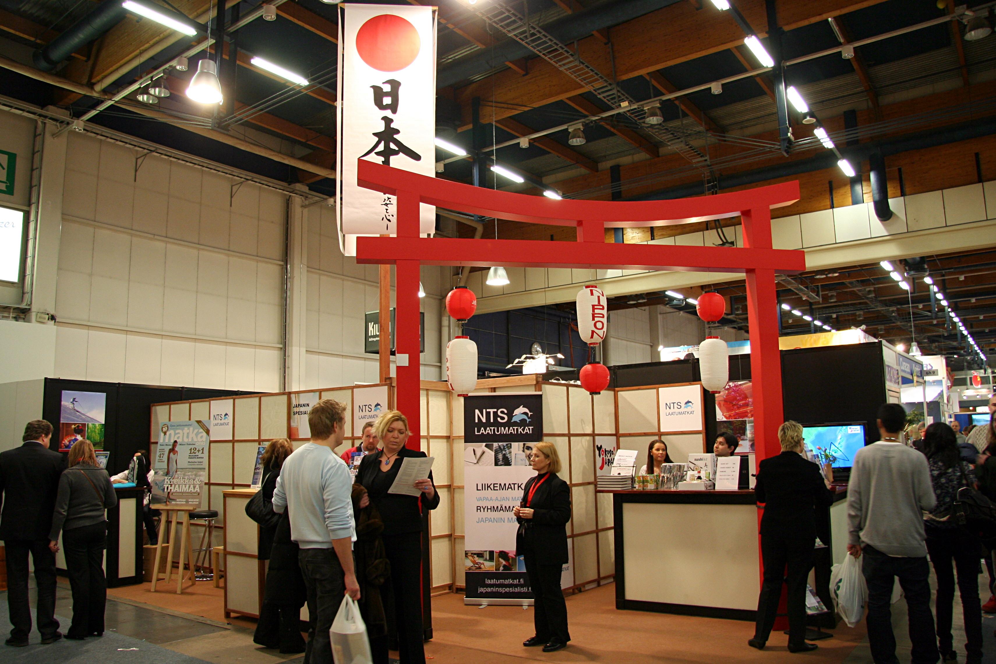 Exhibition Booth Japan : Arto teräs japani matkamessuilla helsingin